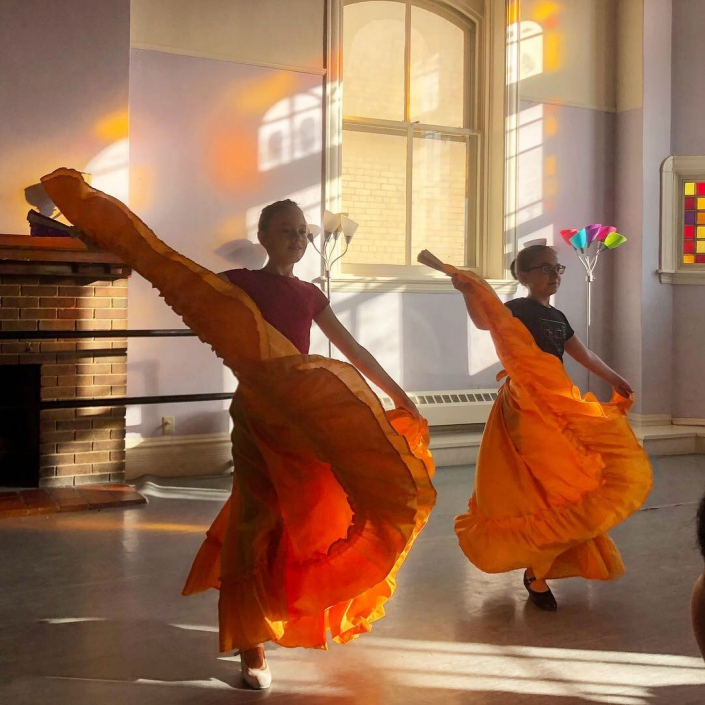 Dancers with Colorful Skirts